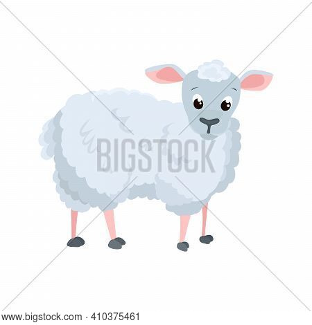 Sheep Flat Icon. Colored Vector Element From Animals Collection. Creative Sheep Icon For Web Design,