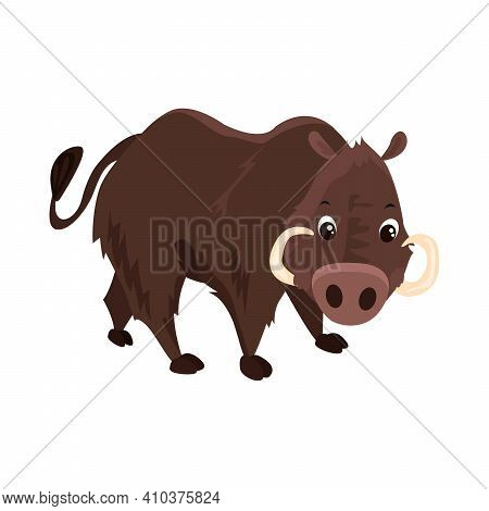 Boar Flat Icon. Colored Vector Element From Animals Collection. Creative Boar Icon For Web Design, T