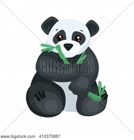 Panda Flat Icon. Colored Vector Element From Animals Collection. Creative Panda Icon For Web Design,