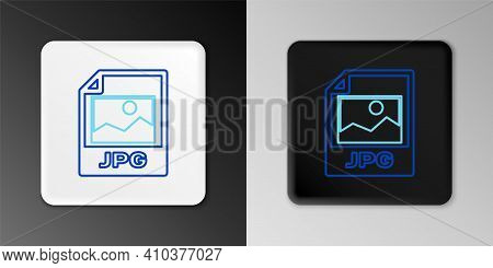 Line Jpg File Document. Download Image Button Icon Isolated On Grey Background. Jpg File Symbol. Col