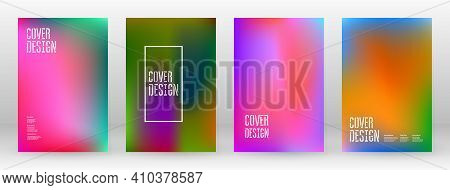 Pastel Soft. Rainbow Gradient Set. Color Background. Pink, Green, Red, Blue, Violet, Yellow Blurred
