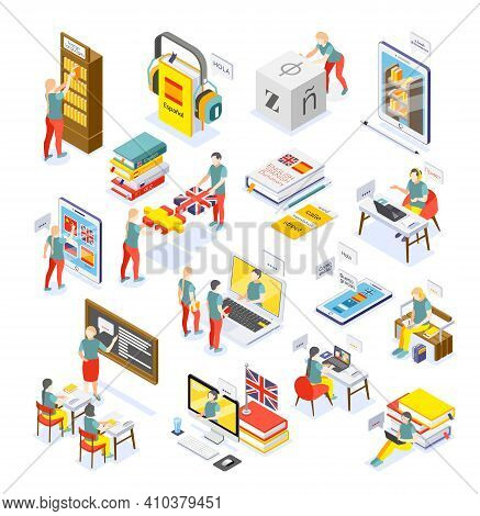 Language Courses Online Smartphone Pc Tablet Electronic Library Dictionary Personal Tutor School Les
