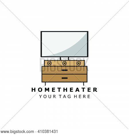 Home Theater  Logo Color Vector Illustration Design