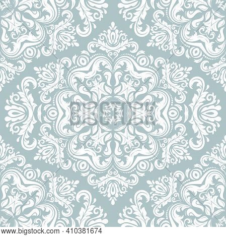 Orient Classic Pattern. Seamless Abstract Background With Vintage Elements. Orient Blue And White Ba