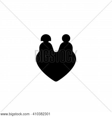 Couple Lover. On White Background. Heart Icon And Romantic. Valentines Day