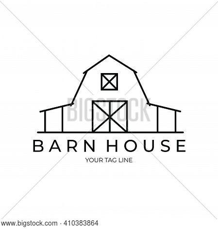 Barn House Logo Illustration Design, Farmhouse Logo Design