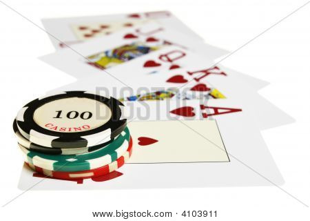 Casino Chips And Playing Cards