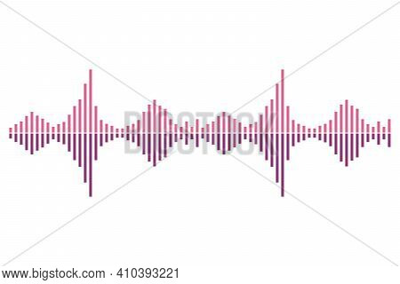 Frequency Audio Waveform, Music Wave Hud Interface Elements, Voice Graph Signal. Vector Illustration