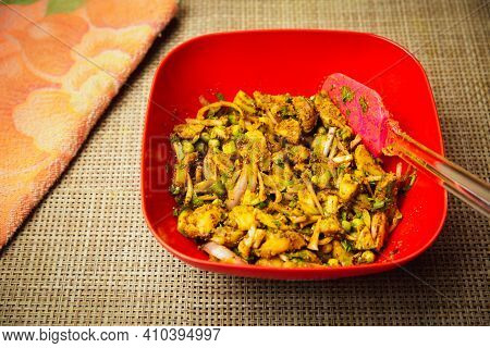Popular Potato Pickle Served In A Bowl. Alu Ko Achar.spicy Nepali Pickle