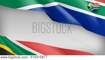 South Africa Festive Background Patriotic Colors. Independence, Reconciliation, Freedom Day Holiday