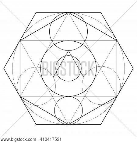 Alchemical Sign, Transmutation Sign Isolated On White Background