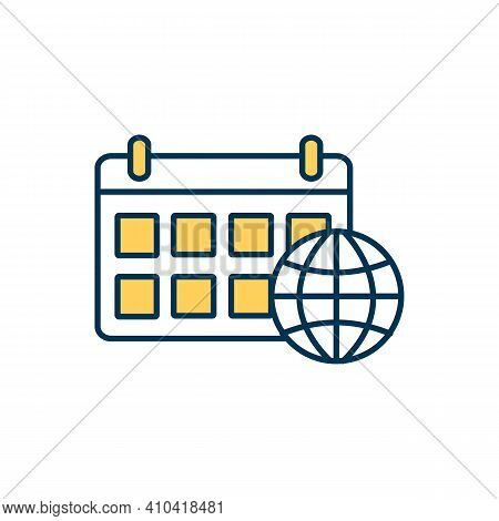 Weekly Internet Rgb Color Icon. Pre-paid Monthly Wireless Network Package. Constant Access For High-