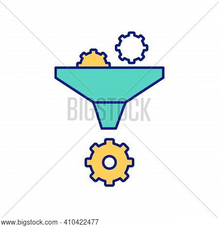 Quality Of Economy And Frugality In Using Of Resources Rgb Color Icon. Method Of Filtration Funds. E