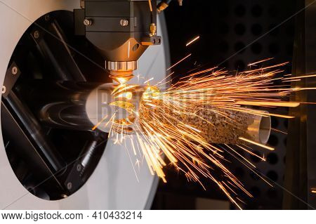 Metalworking, Equipment, Machining, Industrial, Technology, Manufacturing Concept. Automatic Cnc Las