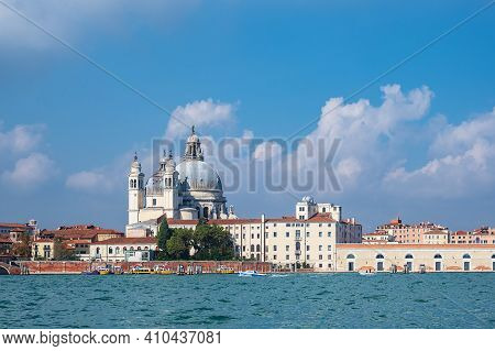 View To Historical Buildings In Venice, Italy.