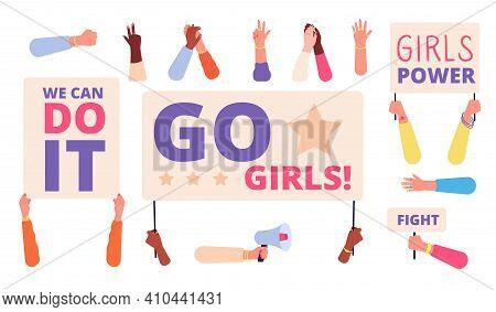 Hand Unity Symbols. Hands Together, Community Togetherness Teamwork. Diverse People Society, Social