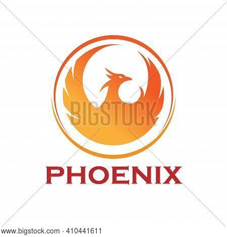 Phoenix Business Logo. Phoenix Logo Flying Bird Abstract Design Vector Template. Eagle Falcon Soarin