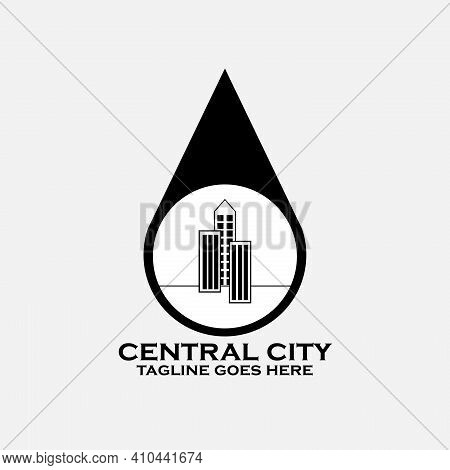 Central City Illustration Design Vector. Central City Logo Vector. Building Logo Vector