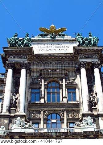 Vienna, Austria - 11 Jun 2011: Imperial Palace Hofburg In Vienna, Austria