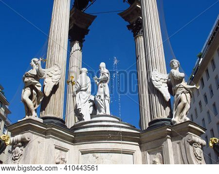 The Monument In The Center Of Vienna, Austria