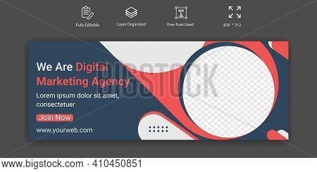 Digital Marketing Agency Social Media Cover Banner Template  Design.  Social Media Sale Banner For C