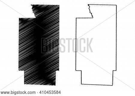 Summit County, Ohio State (u.s. County, United States Of America, Usa, U.s., Us) Map Vector Illustra