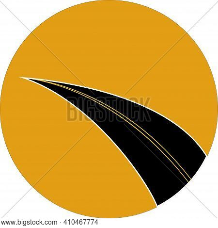 Vector Illustration With An Image Symbolizing The Freeway