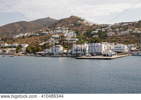 Ios, Greece - September 26, 2020: View Of Ios, A Greek Island In The Cyclades Group In The Aegean Se