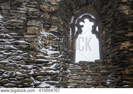 Splendid and mysterious medival castle - Tourist destination, historic tourism landmark concept