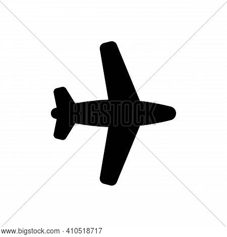 Airplane Icon, Plane Logo Line Icons In Black Isolated On White Background, Fly Symbol. Air Sign, Fl