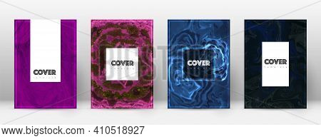 Abstract Cover. Exotic Design Template. Suminagashi Marble Hipster Poster. Exotic Trendy Abstract Co