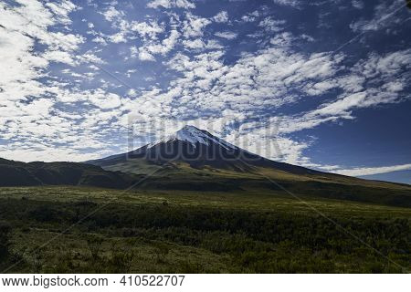Cotopaxi Is An Active Volcano In The Andes Mountains, In The Latacunga Canton Of Cotopaxi Province,