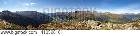 Davos Klosters Switzerland, Seehorn Peak, Swiss Beautiful Landscape Nature Panorama Picture