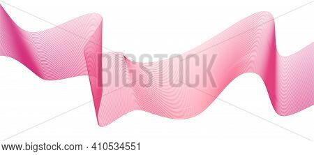 Abstract Lines Wave Background. Dynamic Curve Line. Technology Vector. Pink Lines Wave Design. Curve