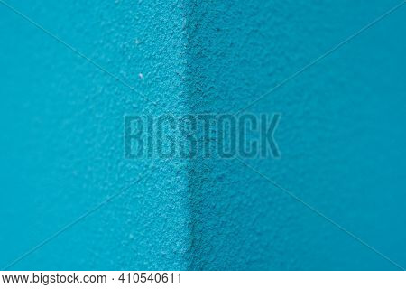 Photo Of A Blue Painted Wall. Turquoise Or Blue Wall Background. Turquoise, Background