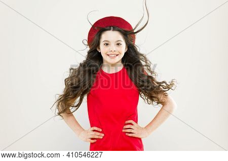 Discover Difference. Styling Curly Hair. Hairdresser Tip. Perfect Curls. Kid Cute Face With Adorable