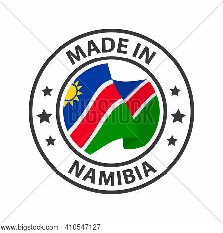 Made In Namibia Icon. Stamp Sticker. Vector Illustration