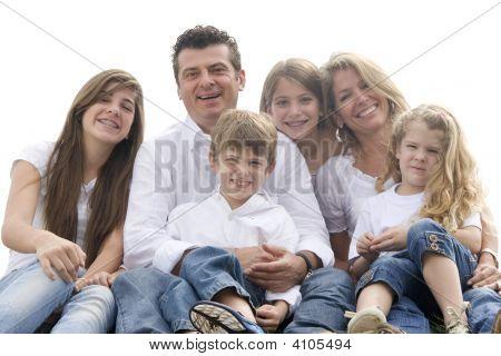 Porträt der Familie gemeinsam genießen
