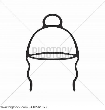 Doodle Hat For A Child Isolated On A White Background. Illustration Of A Headdress. Drawing Of Outer