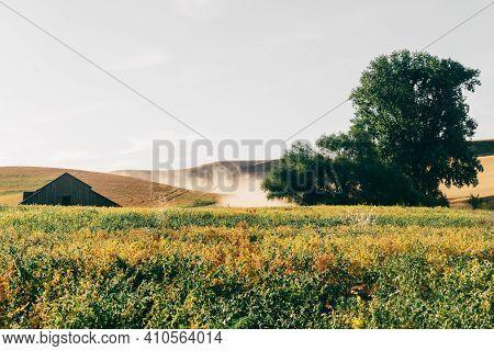 Rural Palouse Landscape From Steptoe, Eastern Washington.