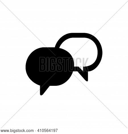 Chat Icon Vector. Chat Icon Isolated On White Background. Chat Icon Simple And Modern.