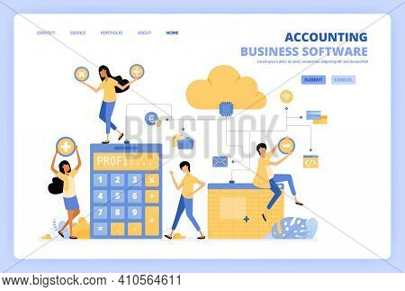 People Access Cloud Accounting Software With Spreadsheets, Risk Calculators And Financial Banking To