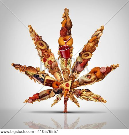 Cannabis Munchies And Marijuana Hunger For Increased Cravings For Snacks And Increased Appetite Due