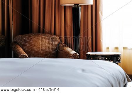 Interior Image Of A Luxury Bedroom Background