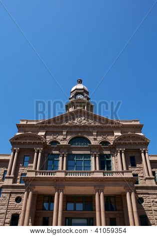 Historic Tarrant County Courthouse, Fort Worth, Texas with room for copy