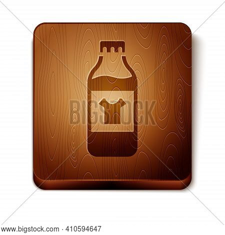 Brown Plastic Bottle For Laundry Detergent, Bleach, Dishwashing Liquid Or Another Cleaning Agent Ico