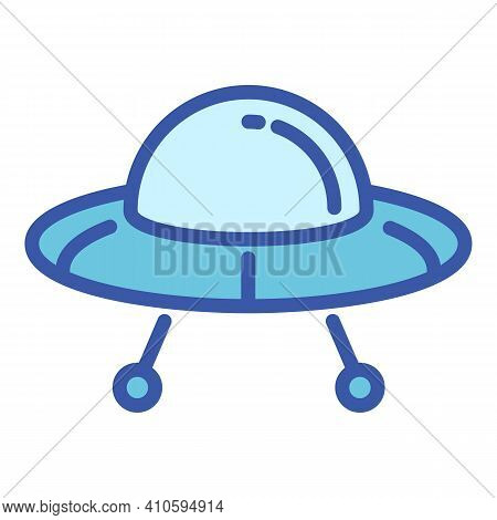 Ufo Ship Icon. Outline Ufo Ship Vector Icon For Web Design Isolated On White Background