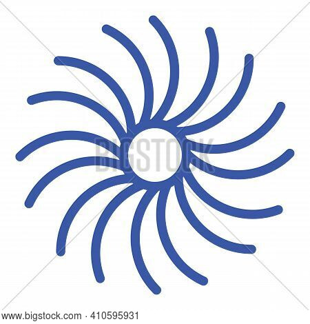 Orbital Spiral Icon. Outline Orbital Spiral Vector Icon For Web Design Isolated On White Background