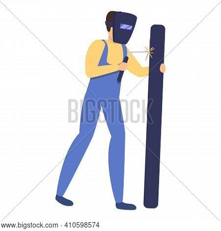 Builder Welder Icon. Cartoon Of Builder Welder Vector Icon For Web Design Isolated On White Backgrou