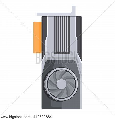 Power Gpu Icon. Cartoon Of Power Gpu Vector Icon For Web Design Isolated On White Background